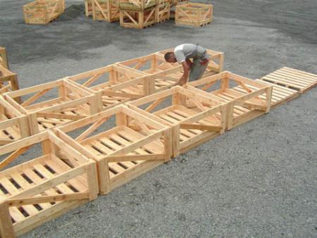Confecção das caixas de madeira (pallet)