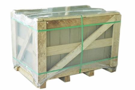Produtos embalados em caixas de papel�o, pallet e revestidos com pl�stico.